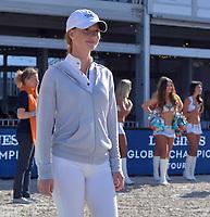 MIAMI BEACH, FL - APRIL 07: Jennifer Katharine Gates at the Longines Global Champions Tour stop day 3 in Miami Beach on April 7, 2018 in Miami Beach, Florida<br /> <br /> People:  Jennifer Katharine Gates