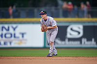 Grand Junction Rockies second baseman Turner Brown (31) during a Pioneer League game against the Billings Mustangs at Dehler Park on August 14, 2019 in Billings, Montana. Grand Junction defeated Billings 8-5. (Zachary Lucy/Four Seam Images)