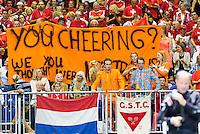 Switserland, Genève, September 18, 2015, Tennis,   Davis Cup, Switserland-Netherlands, Dutch supporters<br /> Photo: Tennisimages/Henk Koster