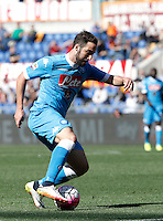 Calcio, Serie A: Roma vs Napoli. Roma, stadio Olimpico, 25 aprile 2016.<br /> Napoli's Gonzalo Higuain in action during the Italian Serie A football match between Roma and Napoli at Rome's Olympic stadium, 25 April 2016. <br /> UPDATE IMAGES PRESS/Isabella Bonotto