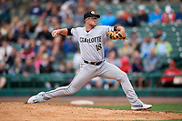 Charlotte Knights pitcher Carson Fulmer (18) during an International League game against the Rochester Red Wings on June 16, 2019 at Frontier Field in Rochester, New York.  Rochester defeated Charlotte 3-2 in the second game of a doubleheader.  (Mike Janes/Four Seam Images)