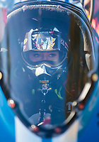 Nov 2, 2019; Las Vegas, NV, USA; NHRA top fuel driver Leah Pritchett during qualifying for the Dodge Nationals at The Strip at Las Vegas Motor Speedway. Mandatory Credit: Mark J. Rebilas-USA TODAY Sports