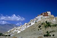 Thikse Monastery built into the hillside, Ladakh, India.