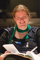 """Volunteer helper, Angela Crowley.  Special Olympics Surrey put on a show,   """"Beyond the Stars"""", at the Rose Theatre, Kingston upon Thames to raise money for the  SOGB team.  The Special Olympics are for athletes with learning disabilities."""