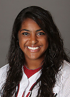 STANFORD, CA - OCTOBER 29:  Maya Burns of the Stanford Cardinal softball team poses for a headshot on October 29, 2009 in Stanford, California.