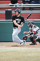 Cincinnati Bearcats outfielder Brandon Neel (18) during 1st game of double header against the St. John's Redstorm at Jack Kaiser Stadium on March 28, 2013 in Queens, New York. St. John's defeated Cincinnati 6-5.      . (Tomasso DeRosa/ Four Seam Images)