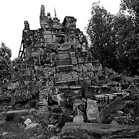 Battambang - Cambodia - June 2020<br /> Ruins of WAT EK PHNOM in early morning