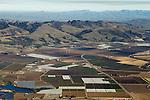 Agricultural land encroaching on natural habitat, Monterey Bay, California