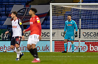 Bolton Wanderers' goalkeeper/coach Matthew Gilks (right) bellows at his defence<br /> <br /> Photographer Andrew Kearns/CameraSport<br /> <br /> The EFL Sky Bet League Two - Bolton Wanderers v Salford City - Friday 13th November 2020 - University of Bolton Stadium - Bolton<br /> <br /> World Copyright © 2020 CameraSport. All rights reserved. 43 Linden Ave. Countesthorpe. Leicester. England. LE8 5PG - Tel: +44 (0) 116 277 4147 - admin@camerasport.com - www.camerasport.com
