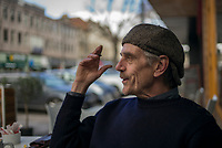 Portrait of Academy award, Golden Globe and Tony award winner, Jeremy Irons having a break before going on stage in LONG DAY JOURNEY INTO NIGHT.<br /> <br /> <br /> PHOTO : Marella Oppenheim - Agence Quebec Presse