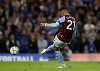 22nd September 2021; Stamford Bridge, Chelsea, London, England; EFL Cup football, Chelsea versus Aston Villa; Anwar El Ghazi of Aston Villa scores from a penalty shootout