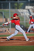 AZL Angels Jose Reyes (12) at bat during an Arizona League game against the AZL Giants Black at the Giants Baseball Complex on June 21, 2019 in Scottsdale, Arizona. AZL Angels defeated AZL Giants Black 6-3. (Zachary Lucy/Four Seam Images)