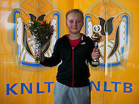 Rotterdam, The Netherlands, 07.03.2014. NOJK ,National Indoor Juniors Championships of 2014, 12and 16 years, Runner up boys 12 years Daan Hendriks (NED)<br /> Photo:Tennisimages/Henk Koster