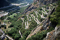 racing up the Lacets de Montvernier (2C/782m/3.4km, 8.2%)<br /> <br /> stage 18: Gap - St-Jean-de-Maurienne (187km)<br /> 2015 Tour de France