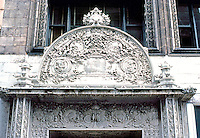 Louis Sullivan: Bayard Bldg. (Formerly Condict Bldg.) 1898. 65 Bleecker St., N.Y. Entrance.  Photo '78.
