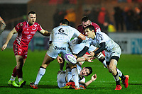 Baptiste Serin of Toulon in action during the European Rugby Challenge Cup Round 5 match between the Scarlets and RC Toulon at the Parc Y Scarlets in Llanelli, Wales, UK. Saturday January 11 2020