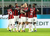 Milano  26-01-2021<br /> Stadio Giuseppe Meazza<br /> Coppa Italia Tim 2020/21<br /> Inter - Milan nella foto:     Zlatan Ibraimovic esultanza                                                     <br /> Antonio Saia Kines Milano