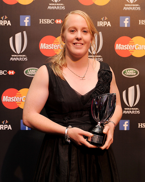 Kendra Cocksege, winner of Womens Player of the Year, at the World Rugby Awards 2015  - 01/11/2015 - Battersea Evolution, London<br /> Mandatory Credit: Rob Munro/Stewart Communications
