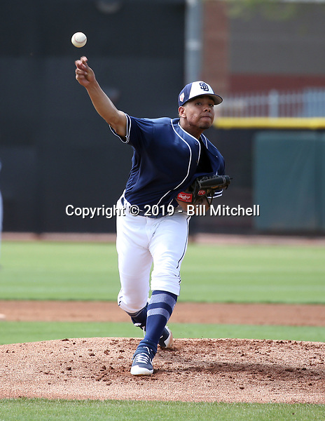 Luis Patino - San Diego Padres 2019 spring training (Bill Mitchell)