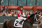 #2 Ride On Curlin with jockey Kent Desormeaux after the running of the Rebel Stakes (Grade II) at Oaklawn Park in Hot Springs, Arkansas-USA on March 15, 2014. (Credit Image: © Justin Manning/Eclipse/ZUMAPRESS.com)