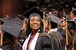 Pamela Dyer-Price smiles at the crowd during  the Texas Southern University commencement Saturday May 16,2009.(Dave Rossman/For the Chronicle)