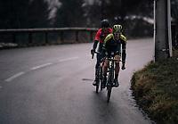 Simon Yates (GBR/Michelton-Scott) wins Stage 7 (Nice > Valdeblore La Colmiane / 175km) & takes the yellow jersey/GC lead in the process<br /> <br /> 76th Paris-Nice 2018