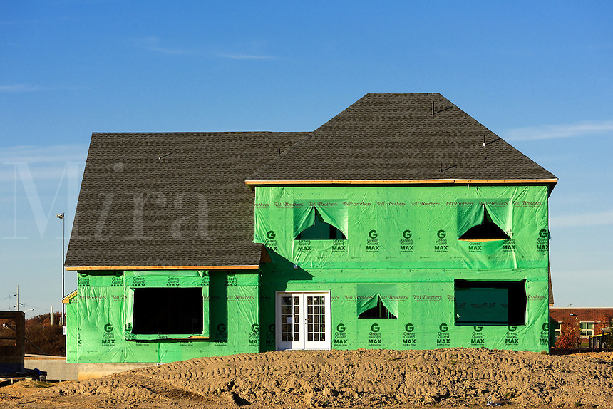 New home construction site, New Jersey, USA