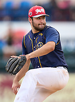 Belen Jesuit Wolverines pitcher Esteban Rodriguez (16) during the 42nd Annual FACA All-Star Baseball Classic on June 6, 2021 at Joker Marchant Stadium in Lakeland, Florida.  (Mike Janes/Four Seam Images)
