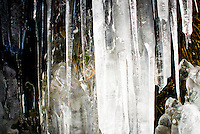 Close up of icicles in Arthur's Pass - Arthur's Pass NP, New Zealand