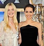 "Elle Fanning, Angelina Jolie, Maleficent, June 23, 2014, Tokyo, Japan : Actress Elle Fanning(L) and Angelina Jolie attend Japan premiere for the film ""Maleficent"" in Tokyo, Japan, on June 23, 2014."