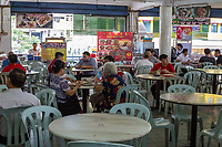 Individual Food Vendors Share Common Seating Area for Diners, Ipoh, Malaysia.