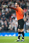 GLASGOW, SCOTLAND - JANUARY 28:  Ayr United goalie Kevin Cuthbert during the Scottish Communities Cup Semi Final match between Ayr United and Kilmarnock at Hampden Park on January 28, 2012 in Glasgow, United Kingdom. (Photo by Rob Casey/Getty Images).