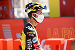 Primoz Roglic (SLO) Jumbo-Visma at sign on before Stage 5 of La Vuelta d'Espana 2021, running 184.4km from Tarancón to Albacete, Spain. 18th August 2021.    <br /> Picture: Luis Angel Gomez/Photogomezsport   Cyclefile<br /> <br /> All photos usage must carry mandatory copyright credit (© Cyclefile   Luis Angel Gomez/Photogomezsport)