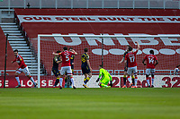 13th March 2021; Riverside Stadium, Middlesbrough, Cleveland, England; English Football League Championship Football, Middlesbrough versus Stoke City; Grant Hall of Middlesbrough scores Middlesbroughs 1st goal in  the 20th minute