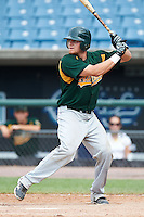 Tanner Norton #14 of Bishop Brossart High School in Morning View, Kentucky playing for the Oakland Athletics scout team during the East Coast Pro Showcase at Alliance Bank Stadium on August 3, 2012 in Syracuse, New York.  (Mike Janes/Four Seam Images)
