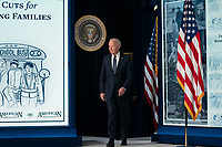 U.S. President Joe Biden arrives prior to speaking at an event marking the day that families will get their first monthly Child Tax Credit relief payments through the American Rescue Plan at the White House on Thursday July 15, 2021 in Washington, D.C. <br /> CAP/MPIFS<br /> ©MPIFS/Capital Pictures