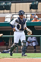 Luis Sanz (7) of the Lakeland Flying Tigers during a game vs. the Ft. Myers Miracle June 6 2010 at Joker Marchant Stadium in Lakeland, Florida. Ft. Myers won the game against Lakeland by the score of 2-0.  Photo By Scott Jontes/Four Seam Images