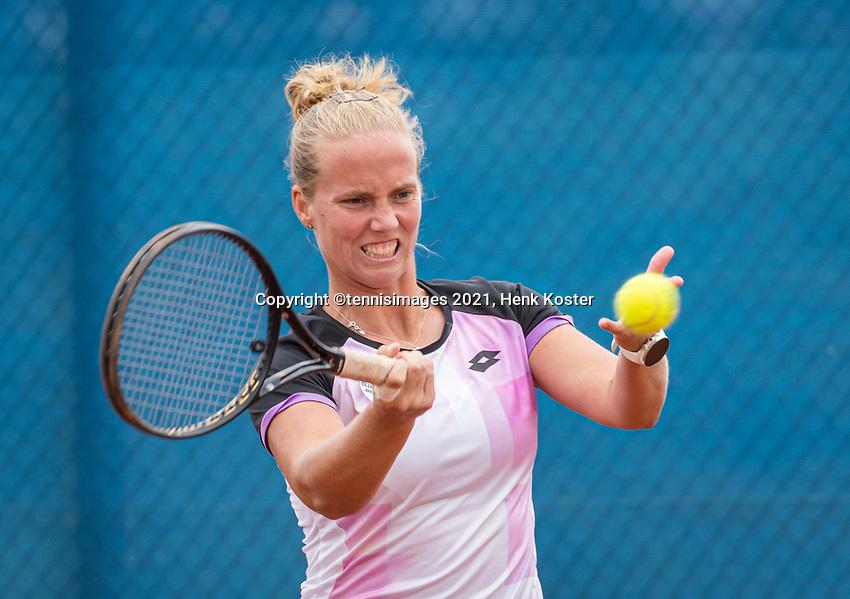 Amstelveen, Netherlands, 6 Juli, 2021, National Tennis Center, NTC, Amstelveen Womans Open, Womans doubles: Richel Hogenkamp (NED)<br /> Photo: Henk Koster/tennisimages.com