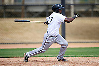 Chicago White Sox minor league outfielder Courtney Hawkins #37 during an instructional league game against the Los Angeles Dodgers at the Camelback Ranch Training Complex on October 6, 2012 in Glendale, Arizona.  (Mike Janes/Four Seam Images)