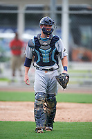 GCL Rays catcher Justin O'Conner (13) during the first game of a doubleheader against the GCL Red Sox on August 9, 2016 at JetBlue Park in Fort Myers, Florida.  GCL Rays defeated GCL Red Sox 5-4.  (Mike Janes/Four Seam Images)