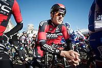 'upgraded' to BMC: Jempy Drucker (LUX/BMC) at the start<br /> <br /> Omloop Het Nieuwsblad 2015