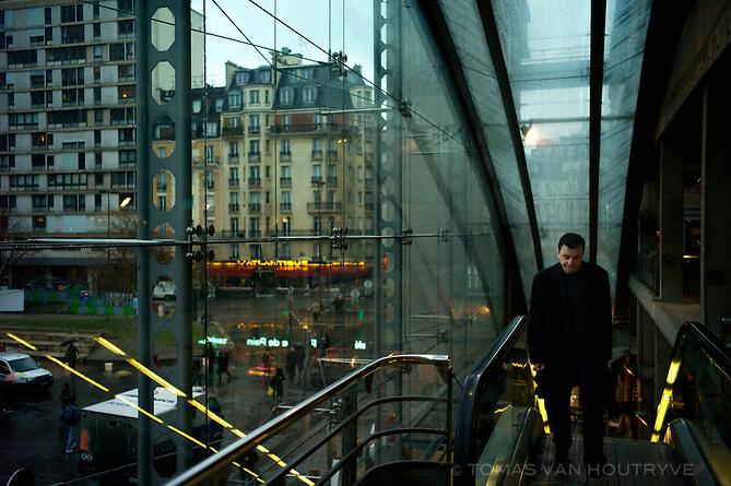 Inside the Gare Montparnasse in Paris on 29 January 2010.