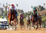 GROUPIE DOLL, ridden by Rajiv Maragh and trained by William Bradley, wins the Breeders' Cup Filly and Mare Sprint at Santa Anita Park in Arcadia, California on November 3, 2012.