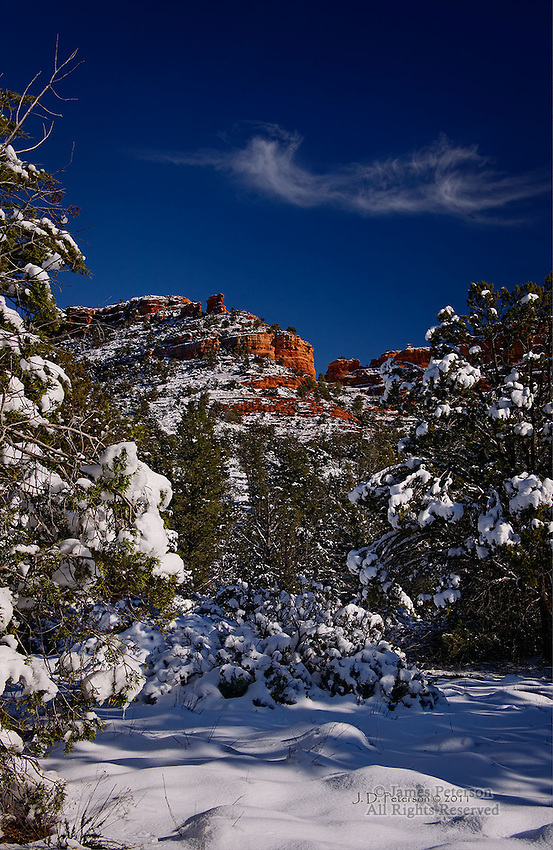 Sedona Winter Wonderland Part 3.  Available in sizes up to 30 x 45 inches.