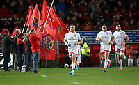 9th November 2019 | Munster vs Ulster<br /> <br /> Rob Herring leads Ulster out during the Round 6 PRO14 League clash between Munster Rugby and Ulster Rugby at Thomond Park, Limerick, Ireland. Photo by John Dickson / DICKSONDIGITAL