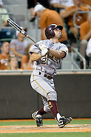 Arizona State Sun Devil second baseman Zach McPhee #2 at bat against the Texas Longhorns in NCAA Tournament Super Regional baseball on June 10, 2011 at Disch Falk Field in Austin, Texas. (Photo by Andrew Woolley / Four Seam Images)