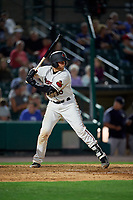 Rochester Red Wings Wynston Sawyer (16) bats during an International League game against the Scranton/Wilkes-Barre RailRiders on June 24, 2019 at Frontier Field in Rochester, New York.  Rochester defeated Scranton 8-6.  (Mike Janes/Four Seam Images)