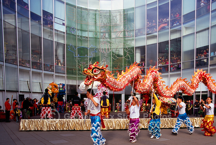 Chinese New Year Dragon Dance and Celebration, Richmond, BC, British Columbia, Canada