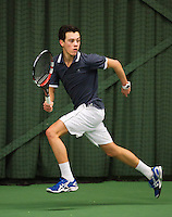 Rotterdam, The Netherlands, 07.03.2014. NOJK ,National Indoor Juniors Championships of 2014, 12and 16 years, Ruben Konings (NED)<br /> Photo:Tennisimages/Henk Koster