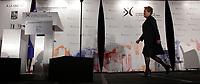 April 3 2014 - Pauline Marois, Quebec's Premier and Leader, , Parti Quebecois speak before the Montreal Board of Trade 4 days before the Quebec elections that will be held April 7, 2014.<br /> <br /> Pauline Marois, Premiere Ministre du Quebec et chef du PQ<br />  s'adresse ‡ la Chambre de Commerce du MontrÈal MÈtropolitain, le 3 avril 2014 , 4 jours avant les Èlections provinciales, le 7 avril 2014<br /> <br /> Photo : Pierre Roussel